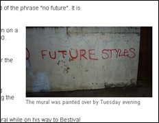 Banksy's No Future White-Washed
