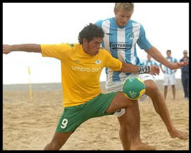 The Bees Beach Soccer Team Win National Championship