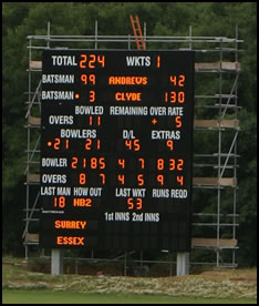 Newclose: Cricket Scoreboard Arrives