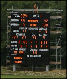 Newclose: Cricket Scoreboard Arrives