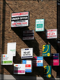 For Sale signs: