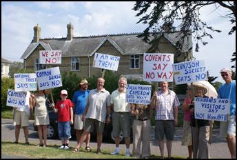 Haslehurst protest