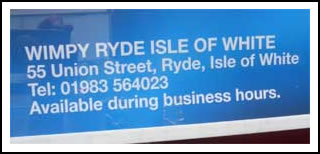 Ryde Wimpy Isle of White