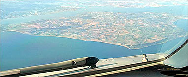 Aerial view of the Isle of Wight