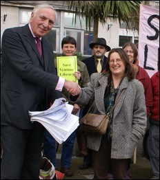 Save The Libraries: Petitions Presented To County Hall