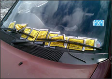 Loads of parking tickets