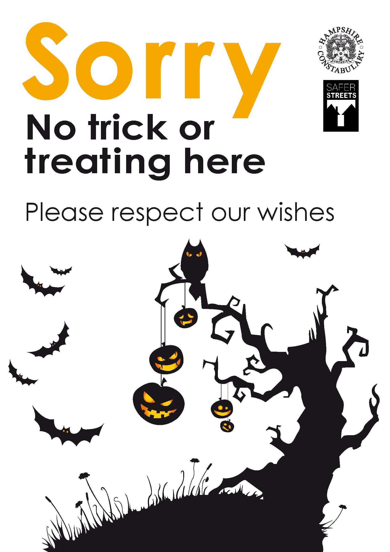 photo about Trick or Treat Signs Printable referred to as Trick or Take care of? Its Not Obligatory Isle of Wight Information