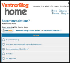 Recommendations? New Board on VentnorBlog Forum
