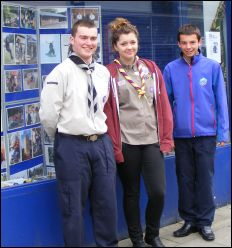 Scouts outside Carphone Warehouse