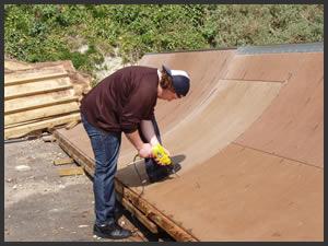 Skate Ramp Repairs Underway