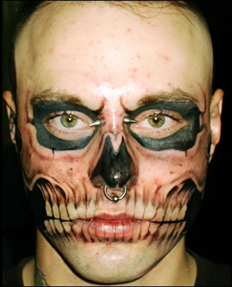Skull Face Tattoo: The World's Craziest Tattoo?