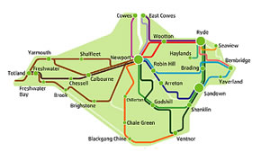 Souther Vectis Bus Route
