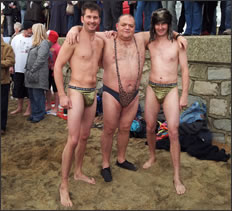 Showing they're nuts at Ventnor's Boxing day Swim 2011