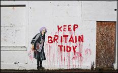 keep britain tidy banksy by wooster