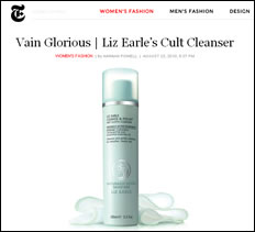 Liz Earle Featured on New York Times
