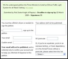 Rapanui - Traffic Light System Petition
