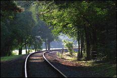 steam railway line: